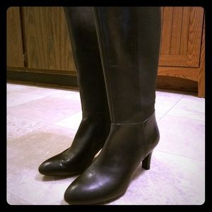 Bandolino mixed black knee high riding boots